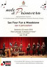 Sax Four Fun Woodstone Gioventù Musicale