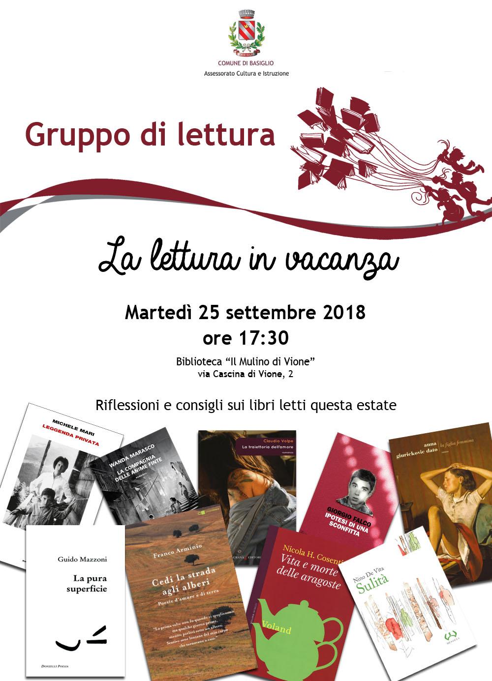 Gruppo di lettura in vacanza 2018